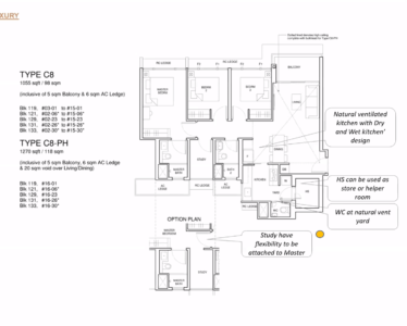 Parc_Central_Residence 3br Luxury 1055sf C8 [SF]