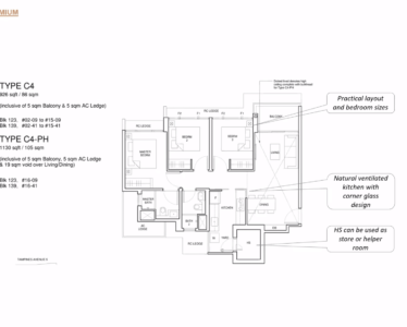 Parc_Central_Residence 3br Premium 926sf C4