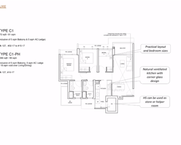 Parc_Central_Residence 3br deluxe 872sf C1